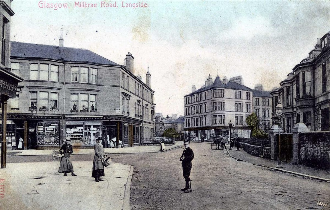 Millbrae Road, Glasgow. June 1906